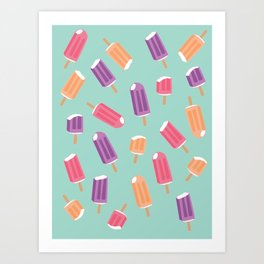 Rainbow Colorful Popsicle Pattern 2 Art Print