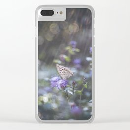 Sunrays  over the butterfly Clear iPhone Case