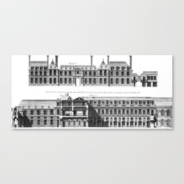 Palais-Royal on the rue St. Honoré 1754 Canvas Print
