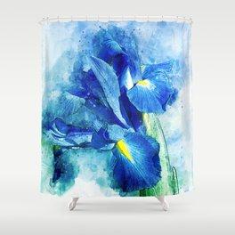Underwater Iris Shower Curtain