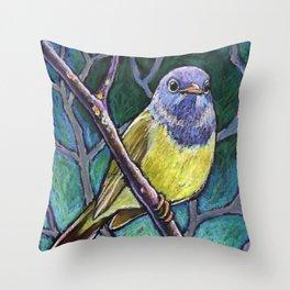 Connecticut Warbler Throw Pillow