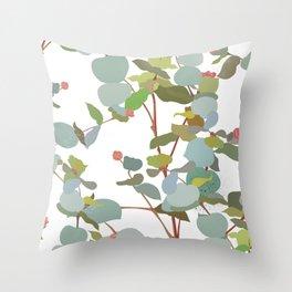 eucalyptus sprig Throw Pillow
