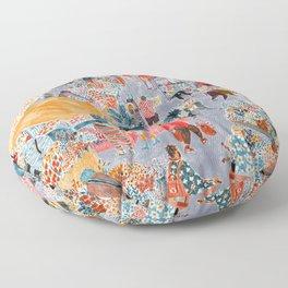 Columbia Road Flower Market Floor Pillow