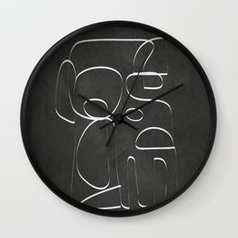 Minimal Abstract Line II Wall Clock