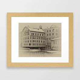 The Old Mill in Winter Framed Art Print