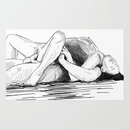 sex by the sea Rug
