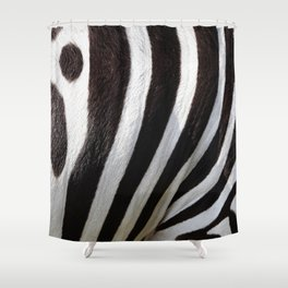 """Pop Safari 01 Zebra"" Shower Curtain"