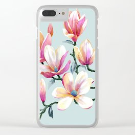 Graceful Flowers Clear iPhone Case