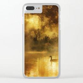 Bird in the misty Georgia M Baker Clear iPhone Case