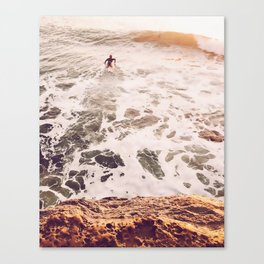 SunsetSurfing Canvas Print