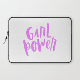 Girl Power 2 Pink and White Laptop Sleeve