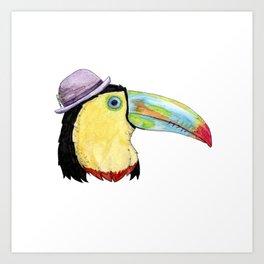 Toucan in a Bowler Hat Art Print
