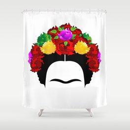 Frida minimalist flowers Shower Curtain