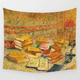 French Novels and a Rose - Van Gogh Wall Tapestry