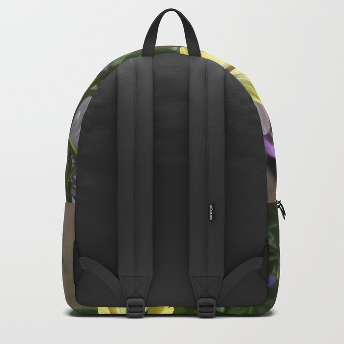 Yellow and Purple African Daisies Backpack