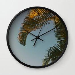 Morning Palms Wall Clock