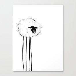 Creepy Sheep Canvas Print