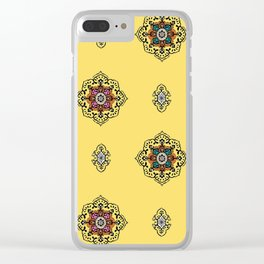 Sunshine Flower Print Clear iPhone Case