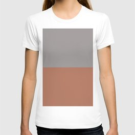 Earthy Horizon 3 Inspired by Sherwin Williams Cavern Clay Sw 7701 and Slate Violet SW 9155 T-shirt