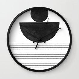 Minimalist Geometric Balance Wall Clock