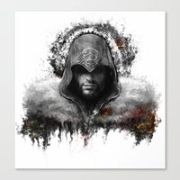 assassins creed Canvas Prints featuring assassins creed ezio auditore by ururuty