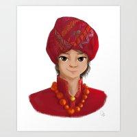 Tibetan Boy - Character Design Art Print