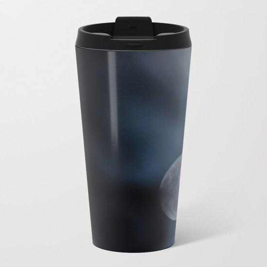 Moon blue 4 Metal Travel Mug