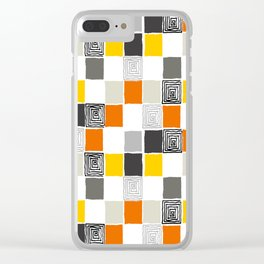 pattern 43 Clear iPhone Case