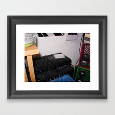 Simple Recording Setup Framed Art Print