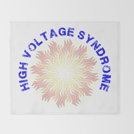 High Voltage Syndrome Throw Blanket