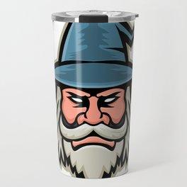 Wizard Head Mascot Travel Mug