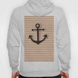 Wall Decor Bathroom Decoration Anchor Poster brown and black Sea Theme Ocean Boat Home Decor Hoody