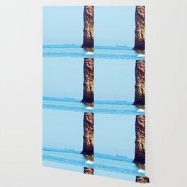 Man and Perce Rock Panoramic Wallpaper