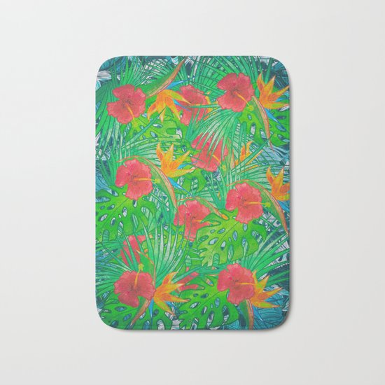 Tropical Rainforest Bath Mat