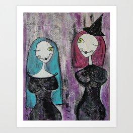 Spooky Friends Art Print