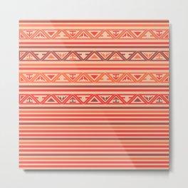 Traditional Ethnic Tribal Geometric Navajo Native American Motif Pattern Metal Print