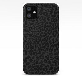 Goth Black Leopard iPhone Case