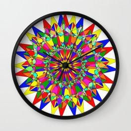 Rainbow of colors Wall Clock