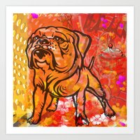 French bulldog pop art Art Print