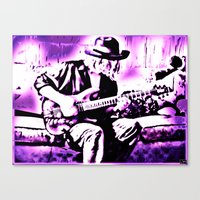 rock n roll Canvas Prints featuring Rock N' Roll Gypsy by Jussi Lovewell