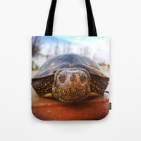 turtle Tote Bags featuring Turtle by Anna Milousheva