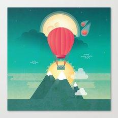 Sun, Moon & Balloon Canvas Print