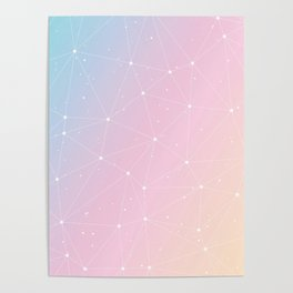 Rainbow Watercolor Astronomy Poster