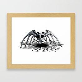 Skull Spider Framed Art Print