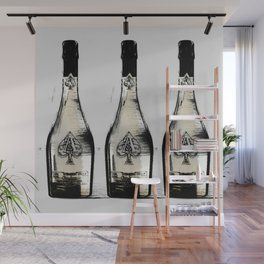 spade champagne Gold, illustration by miart Wall Mural