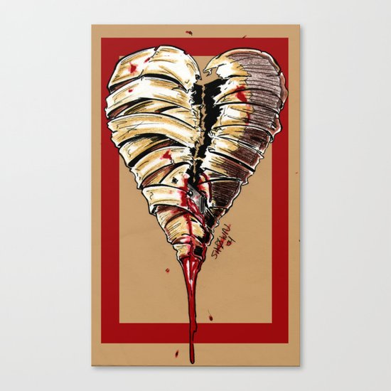 Razor Blade Romance Canvas Print