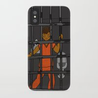 anxiety iPhone & iPod Cases featuring Anxiety by T.L. Jackson Illustration