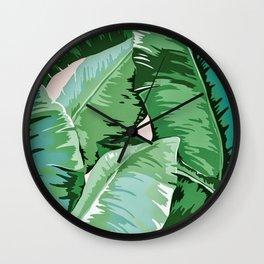 Banana leaf grandeur II Wall Clock