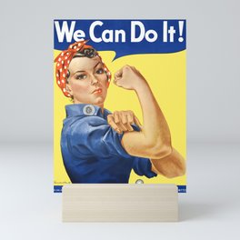 We Can Do It - Rosie the Riveter Poster Mini Art Print