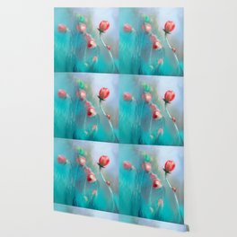 abstract painting of flower || flower painting Wallpaper